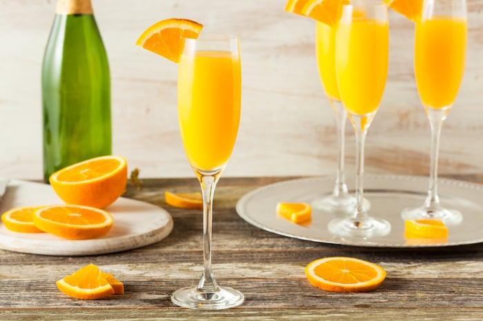 Orange mimosas.
