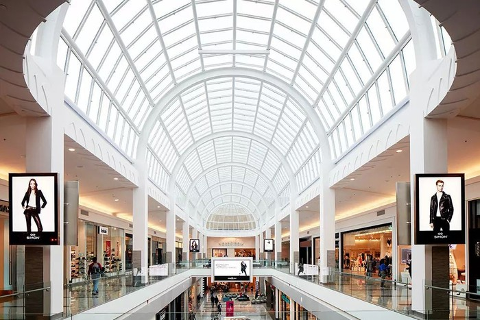 The interior of Simon Property Group's Roosevelt Field Mall