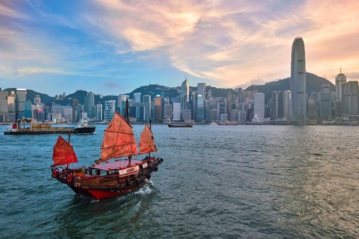 Hong Kong's Victoria Harbor.