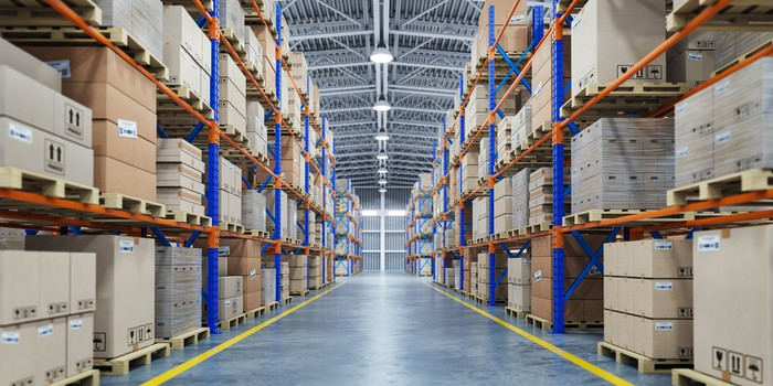 An industrial warehouse.