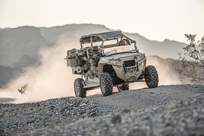 Polaris MRZR-D off-road vehicle.