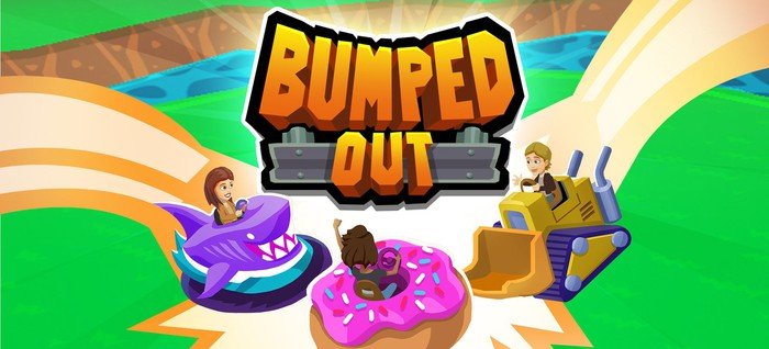 Three characters in vehicles from Zynga's 'Bumped Out.'