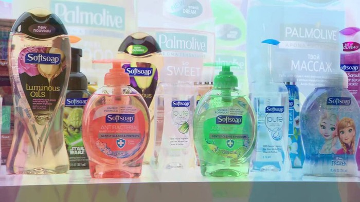A selection of Colgate-Palmolive's Softsoap products.