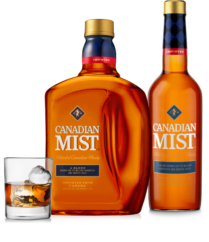 Bottles of Canadian Mist whisky
