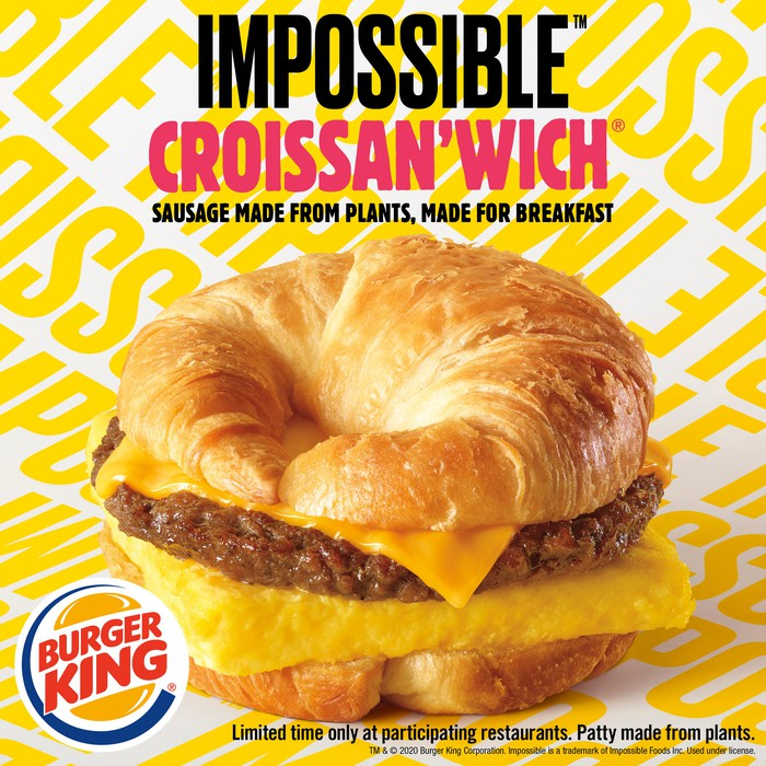 Burger King ad for Impossible Croissan'wich