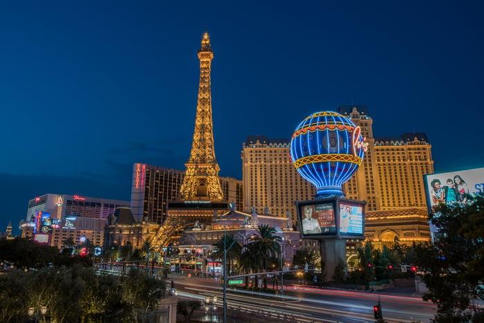 Part of the Las Vegas Strip.