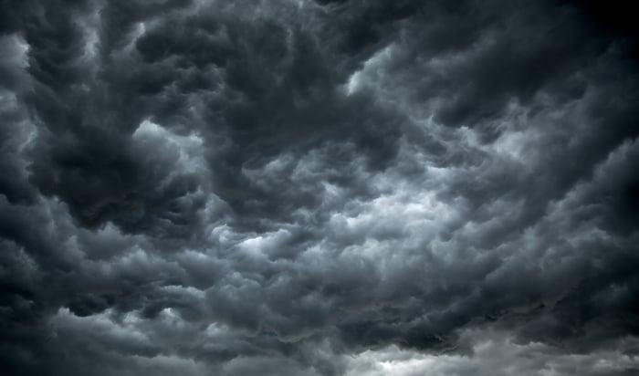 Ominous dark clouds.