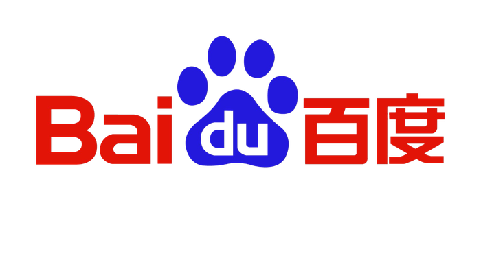 """Baidu logo with a paw-print containing the """"du"""" part of the word."""
