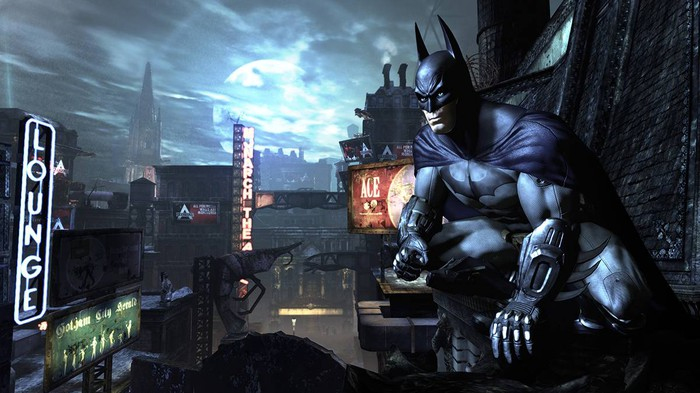Illustrated art from the game, Batman: Arkham City.