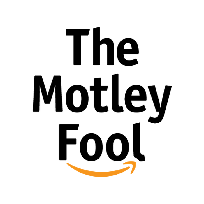 A mashup of the logos of The Motley Fool featuring the words The Motley Fool and Amazon's smiley swoop