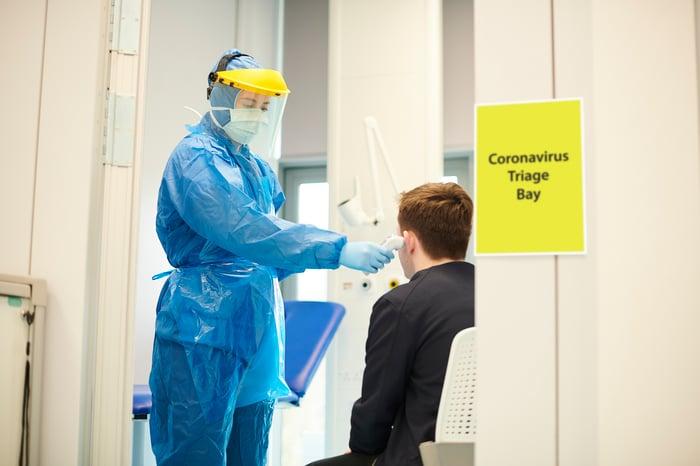 Coronavirus triage bay