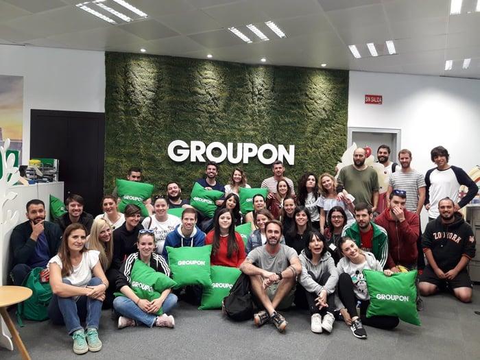Groupon employee group photo