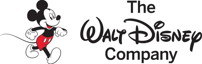 A Disney logo, featuring Walt Disney's signature and a walking Mickey Mouse.