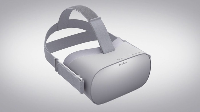 The Oculus Go VR headset.