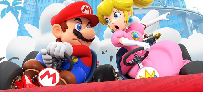 Promotional art for Mario Kart Tour.