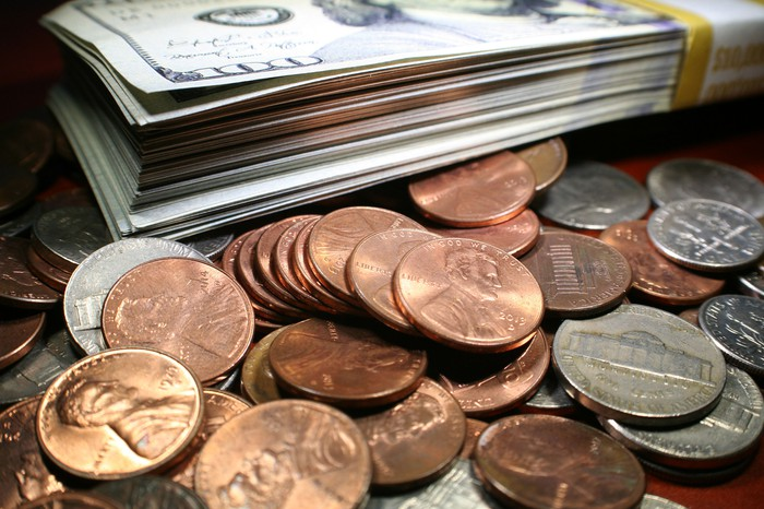 Bills and coins.