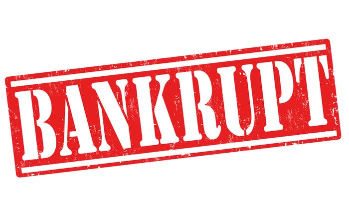 Red bankrupt stamp