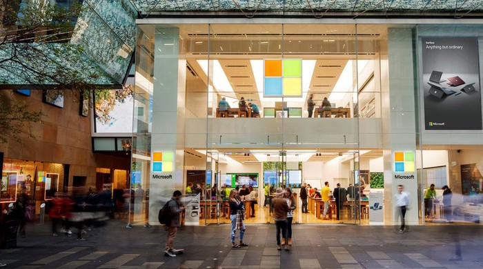 Microsoft store exterior