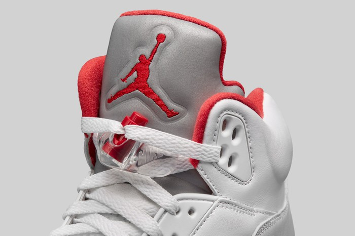 Air Jordan sneaker with the Jumpman logo on the tongue.