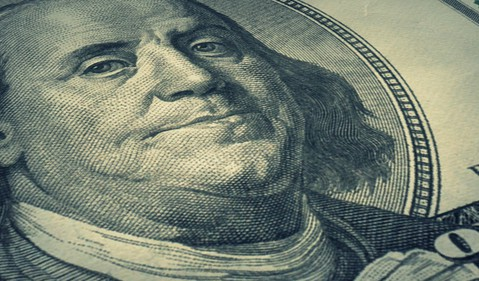 One Hundred Dollar Bill Cash Money Invest Currency US Getty