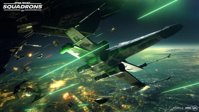 Screenshot of game footage from EA's Star Wars Squadrons video game.