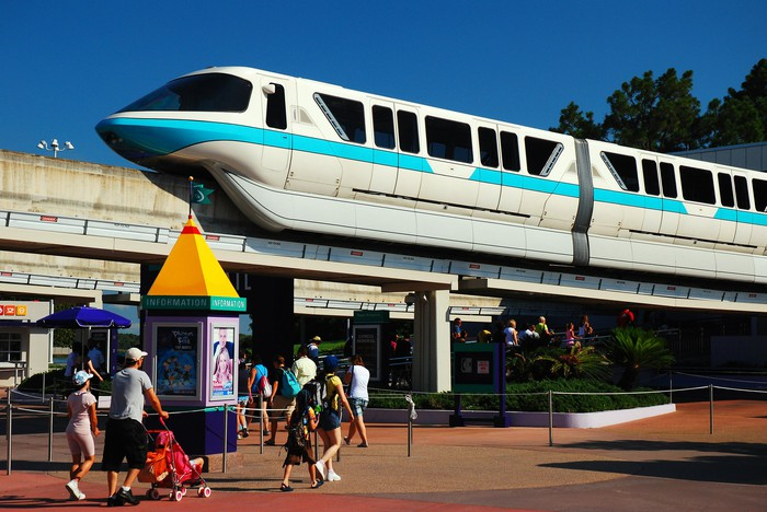 The monorail at Walt Disney World.