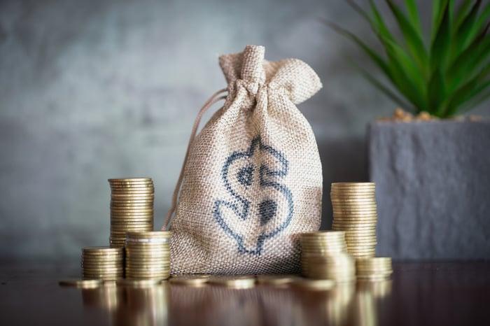 A bag of money.