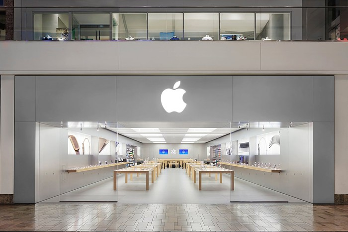 An Apple Store in California.