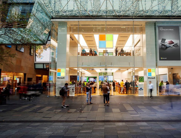 A Microsoft Store in Sydney.