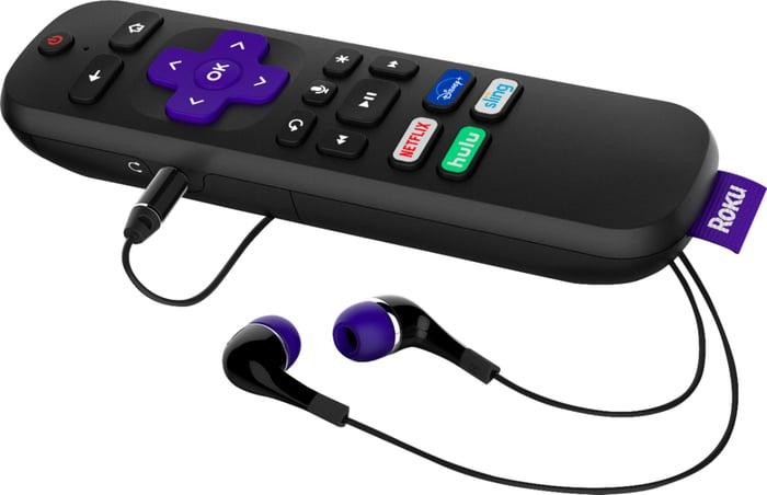 A Roku remote.