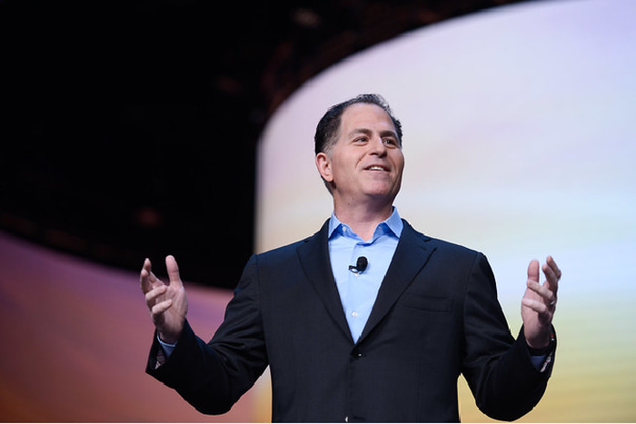 Michael Dell speaking to an audience.