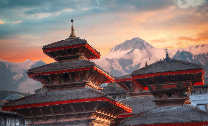 Ancient architecture near Kathmandu.