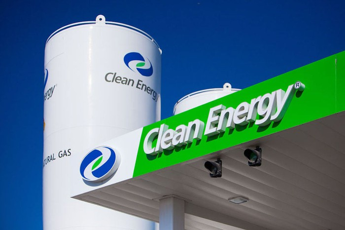 Clean Energy fueling station canopy