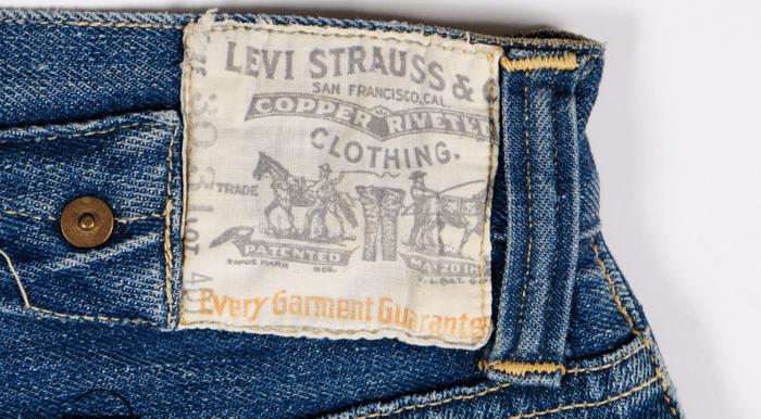 Levi Strauss patch on jeans