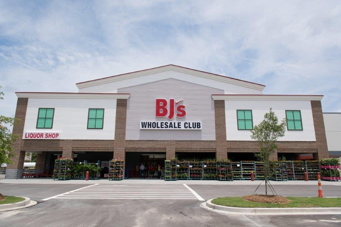 The entrance to a BJ's Wholesale Club