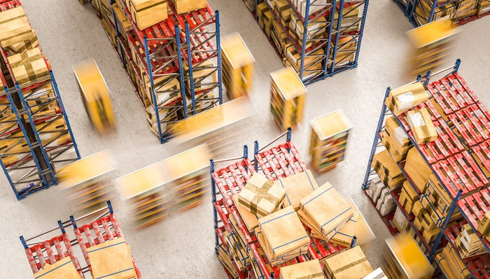 Kiva robots at Amazon warehouse