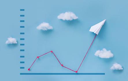 Paper plane rebound chart
