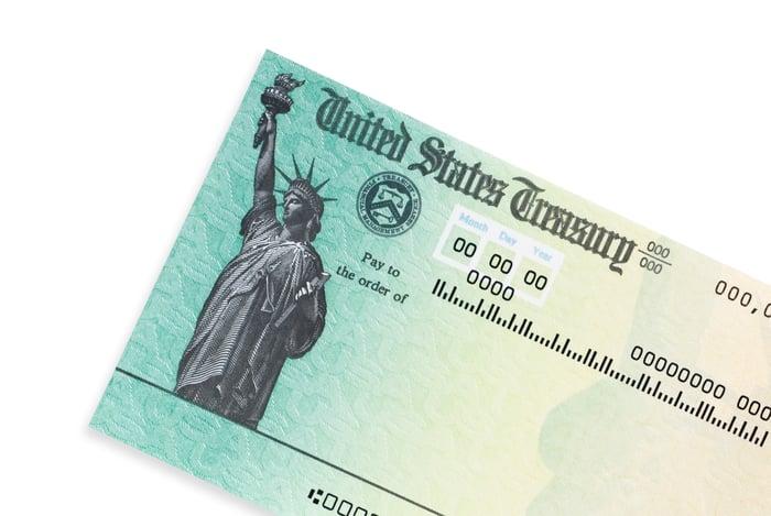 Stimulus check from United States Treasury.