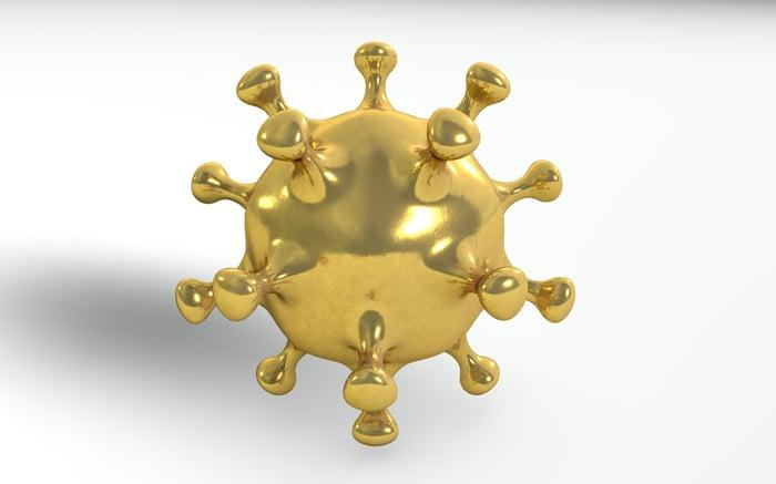 Gold coronavirus