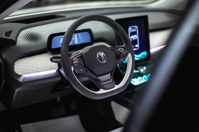 Interior of a Fisker vehicle.