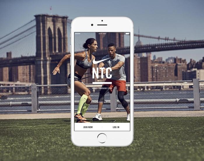 A smartphone displaying the NTC app logo.