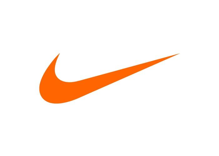 A Nike swoosh logo