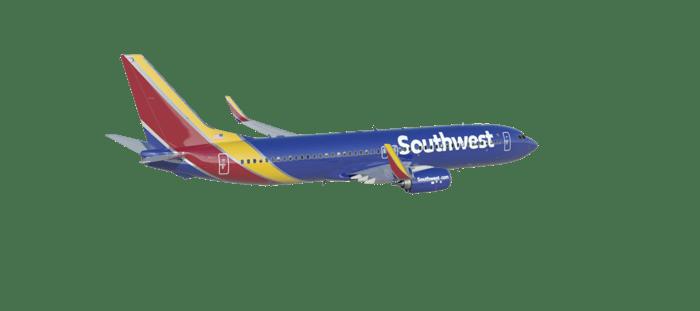 Southwest airplane in flight.