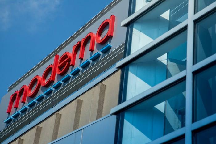 A Moderna building facade.