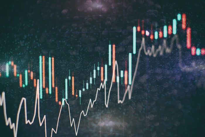 A line chart on a dark background.