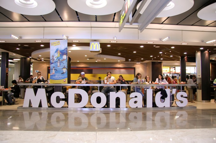 A McDonald's location in an airport.