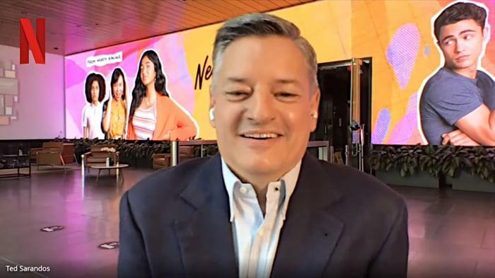 A photo of Ted Sarandos, co-CEO of Netflix.