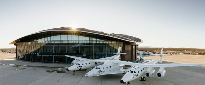 A Virgin Galactic vehicle at Spaceport America.