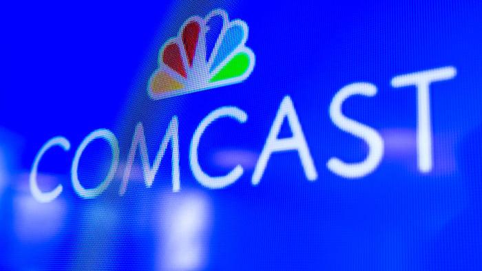Comcast logo on a TV screen