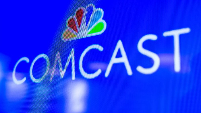 Comcast logo on a TV screen